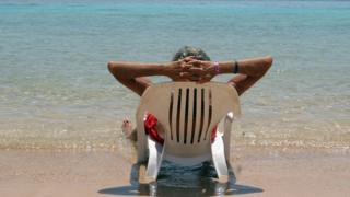 Holidaymaker on a beach