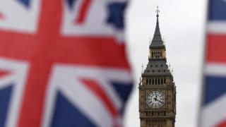 Bandeira do Reino Unido e o Big Ben