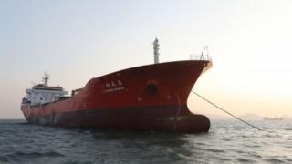 Tàu Lighthouse Winmore tiếp đầy dầu để chở đi Đài Loan, nhưng được cho là chưa bao giờ tới Đài Loan.