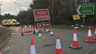 Orwell Bridge road closures