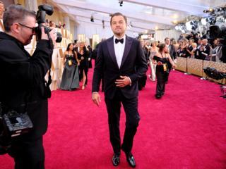 Leonardo DiCaprio on the red carpet.