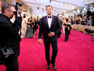 Leonardo DiCaprio sur le tapis rouge.
