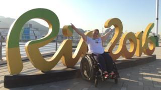 Júlia na arena da Rio 2016