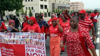bring back our girls campaigners march through Abuja