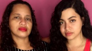 Marilene (à esquerda) e sua filha Amanda