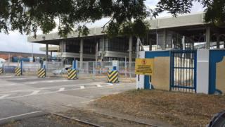 Mombasa port entrance