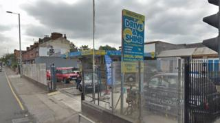 Drive and Shine Carwash on Stockport Road in Levenshulme