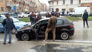 Une scène de la fusillade à Macerata, ville du centre de l'Italie.