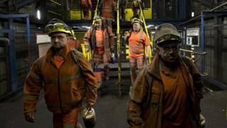 Kellingley mine workers