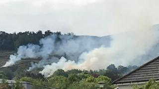Fire at Ilkley Moor
