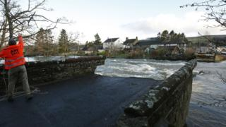Pooley Bridge, destroyed by Storm Desmond
