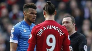 Mings and Ibrahimovic went unpunished by referee Kevin Friend for the incidents where they clashed