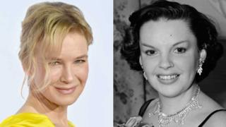 Renee Zellweger earlier this year and Judy Garland in 1951