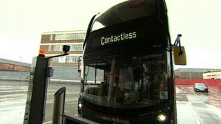 Contactless buses West Midlands