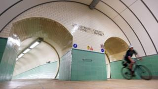 Reopened Tyne cycle tunnel