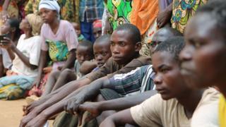 Wakimbizi wa Burundi wakiwa Gashora on Bugesera in April 10, 2015.