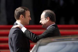 Hollande yasezeye Macron