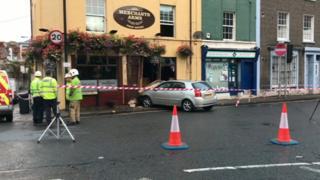 Car crashed into pub
