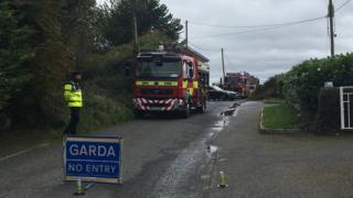 Emergency services attend the scene at Donaghmore in County Louth