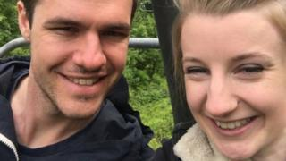 Amy Webster with boyfriend Ryan Davies