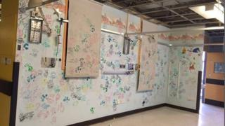 The 'Wall of Hands' on the Shugborough Ward