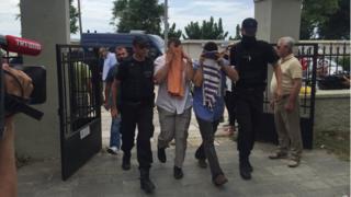 18 Temmuz' 2016da mahkemeye çıkarılan askerler