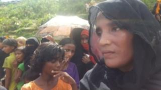 পালিয়ে আসা রোহিঙ্গাদের মধ্যে বেশিরভাগই নারী ও শিশু