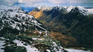 Pass of Glencoe from Stob Coire