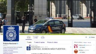 Spanish National Police Body twitter account