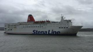 A Stena Line ferry in Fishguard