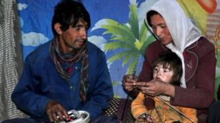 زرینه بیګم پاکستانۍ او مېړه یې دولت نظر د افغانستان دی