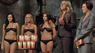 Kate Cotton and Louise Ferguson appearing on Dragons' Den in 2013
