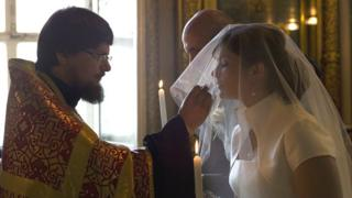 Moscow cathedral wedding, 11 May 12