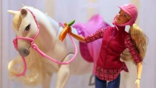 Barbie and white horse