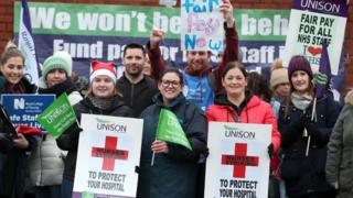 Nurses are on picket lines across Northern Ireland