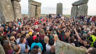 Summer solstice at Stonehenge, Wiltshire