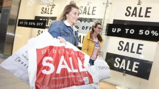 Shoppers at the Centre in Livingston