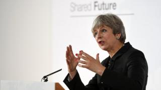 Theresa May outlined some of the UK's Brexit proposals in Italy