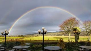 rainbow over Bridge of Allan