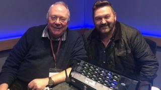 Rev Mervyn Gibson with Talkback presenter William Crawley