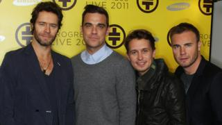 Howard Donald, Robbie Williams, Mark Owen and Gary Barlow