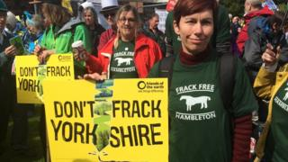 Anti fracking protestors awaiting N Yorks planning decision