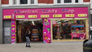American Candy Shop on Oxford Street