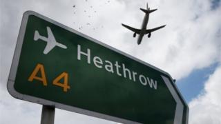 Heathrow airport sign
