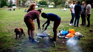 Barbecue in London Fields