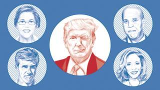 特朗普與民主黨總統參選人