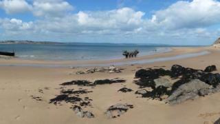 A Caldey Island beach