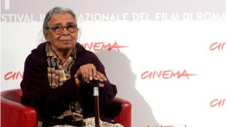 Writer Mahasweta Devi attends the 'Gangor' photocall during The 5th International Rome Film Festival at Auditorium Parco Della Musica on October 31, 2010 in Rome, Italy.