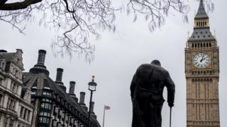 Статуя Черчилля у Лондоні