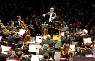 Ennio Morricone conducts at the Royal Albert Hall